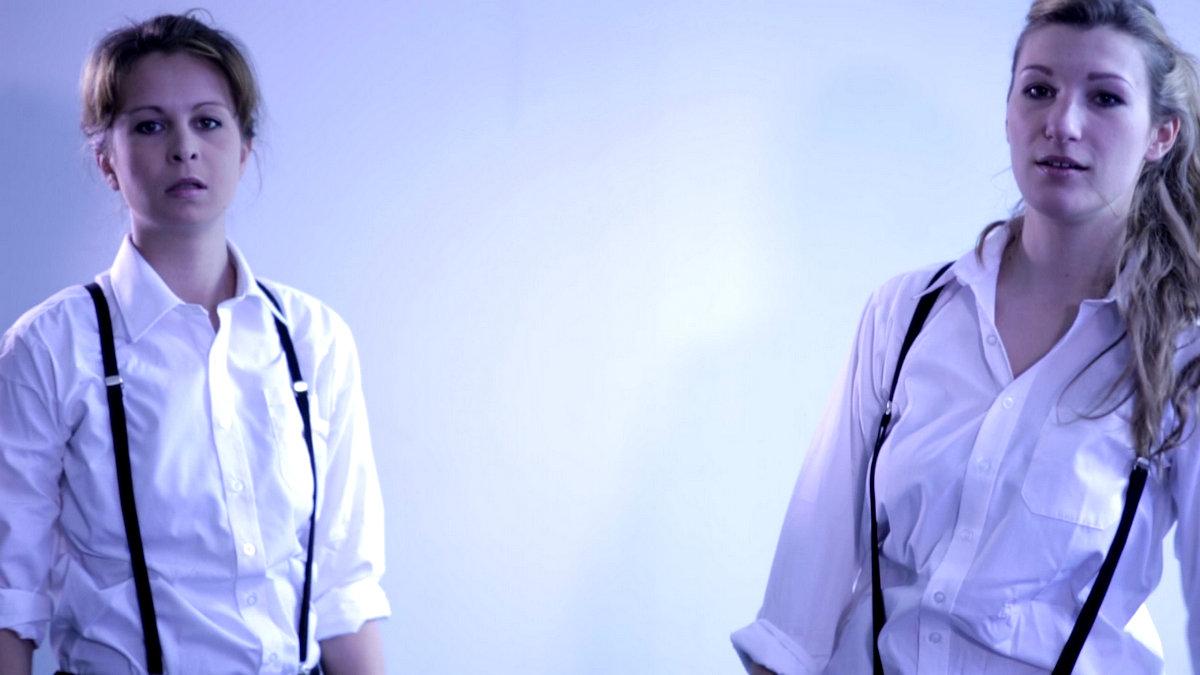 Ashlea Kaye and Stella Taylor as Demetrius and Chiron