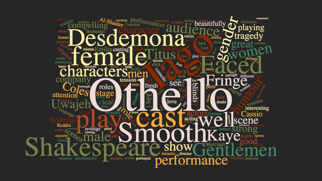 Smooth Faced Gentlemen's all-female Othello - reviews